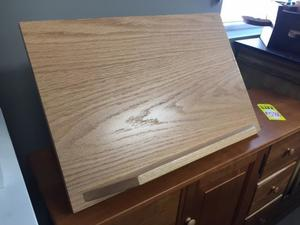 Amish Oak Wood Tabletop Podium In Stock