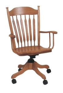Amish Alberta Desk Chair With Gas Lift