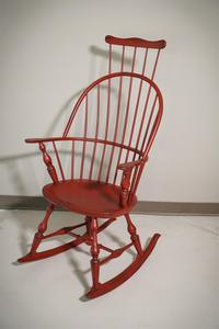 In Stock Amish Comb-back Windsor Rocking Chair