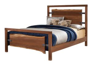 Amish Westmere Bed with Live Edge Slabs