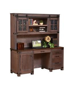 Amish Georgetown Credenza Desk with Optional Hutch Top