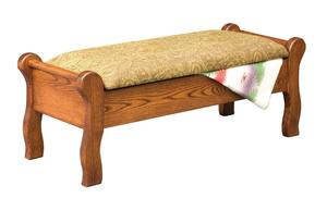 Amish Sleigh Bed Seat