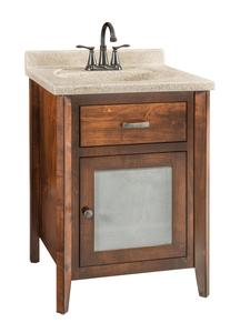 Quick Ship Stanford - Small Brown Maple Free Standing Bathroom Vanity