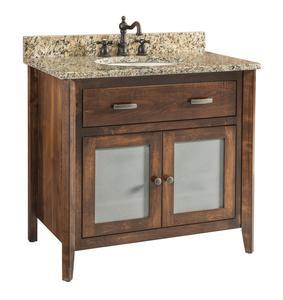 Quick Ship Stanford - Medium Brown Maple Free Standing Bathroom Vanity