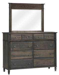 """Amish Eminence 66"""" High Dresser with Optional Mirror"""