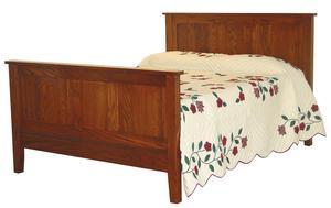 Amish Flush Mission Panel Bed