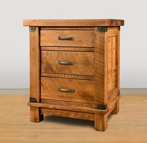 Ruff Sawn Galley 3-Drawer Night Stand