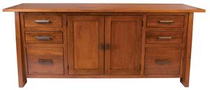 Amish Freemont Mission Credenza with Two Middle Doors