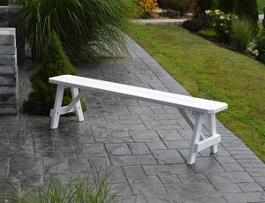 Amish Pine Wood Traditional Backless Outdoor Bench