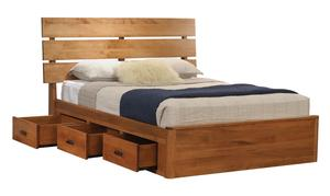Amish Galaxy Slat Platform Bed with Drawers
