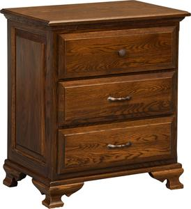 Amish Santa Clara 3-Drawer Nightstand