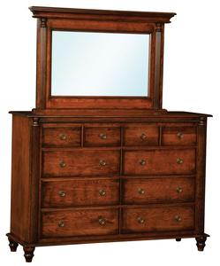 Amish Birmingham Dresser with Optional Mirror