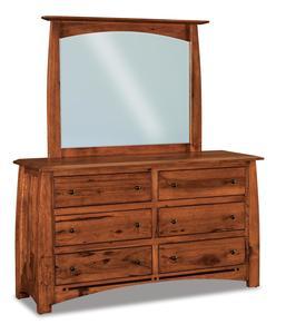 Amish Boulder Creek Condo Size Six Drawer Dresser with Optional Mirror
