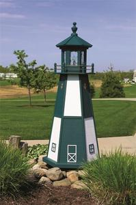 Amish-Made Cape Henry Wooden Garden Lighthouse