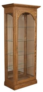 Amish High Curio Cabinet with Four Glass Shelves