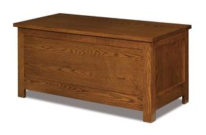 Amish Flush Mission Blanket Chest with Cedar Bottom