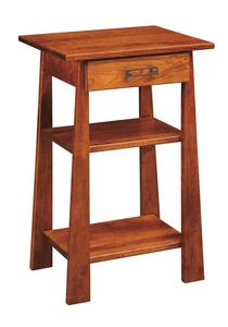 Amish Craftsmen Phone Stand with Drawer