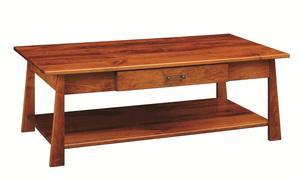 Amish Craftsmen Large Coffee table with Drawer