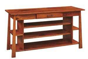Amish Craftsmen Entertainment Table with Drawer