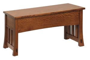 Amish Medesto Hall Bench - Choose Sizes and Woods