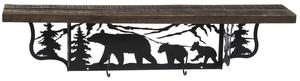 Amish Rustic Shelf with Bears
