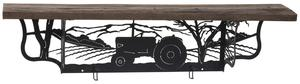Amish Rustic Shelf with Tractor