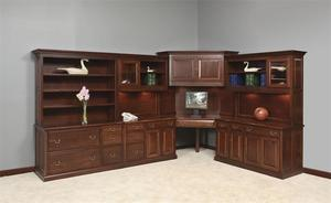 Amish Solid Wood Heritage Office Furniture Set