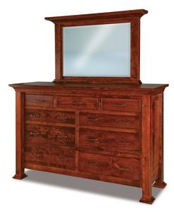 """Amish Empire 71"""" Dresser with Optional Mirror"""
