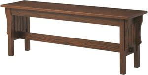 Amish Accent Mission Trestle Bench