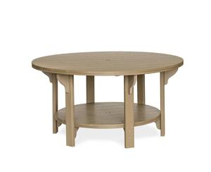 Amish Leisure Lawns Outdoor 60 Inch Round Poly Table