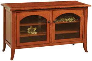 Amish Bunker Hill Flat Wall TV Stand