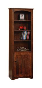 Amish Shaker Bookcase with Optional Doors