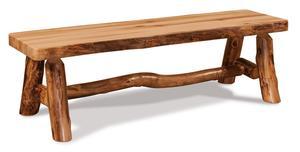 Amish Rustic Log Flat Bench