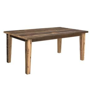 Edinburgh Reclaimed Barn Wood Dining Table with Solid Top