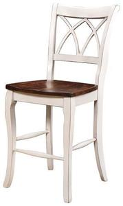 Amish Double-X Back Bar Chair with Optional Swivel