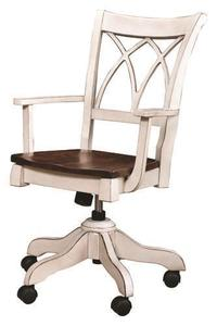 Amish Double-X Back Gas Lift Desk Chair