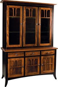 Amish Christy 3 Door Hutch and Buffet - Quick Ship