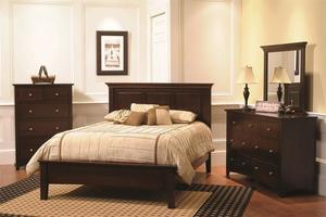 Amish Ellington Bedroom Set in Brown Maple