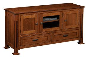 Amish Parker Mission Flat Wall TV Stand