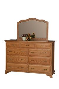 Amish Crown Villa Dresser with Optional Mirror