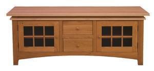 Amish Maple Creek 2-Drawer 2-Door TV Stand