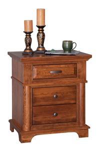 Amish Lindenhurst Three Drawer Nightstand