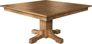 Amish Square Mission Single Pedestal Dining Table