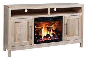 Amish Vienna TV Stand with Fireplace