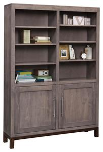 "Amish 48"" Vienna Bookcase with Optional Doors"