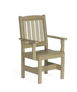 Amish Leisure Lawns Patio Recycled Poly English Garden Dining Chair