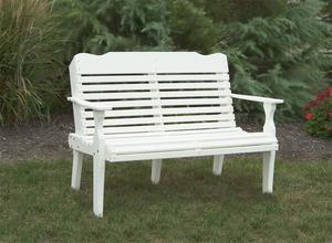 Amish Curved-Back Poly Patio Bench