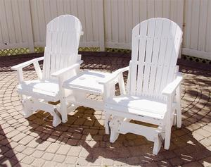 Berlin Gardens Poly Glider and Settee Table Set