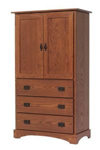 Amish Old English Mission Armoire