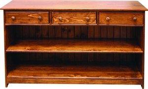 Amish Pine Hall Bookcase Console